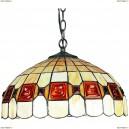 OML-80503-03 Люстра подвесная Omnilux тиффани, 3 лампы, бронза (Омнилюкс)