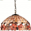OML-80603-03 Люстра подвесная Omnilux тиффани, 3 лампы, бронза (Омнилюкс)