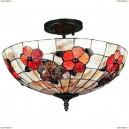 OML-80607-03 Люстра потолочная Omnilux тиффани, 3 лампы, бронза (Омнилюкс)