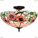 OML-80707-03 Люстра потолочная Omnilux тиффани, 3 лампы, бронза (Омнилюкс)