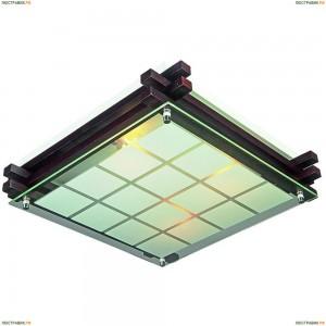 OML-40507-04 Светильник квадратный настенно-потолочный Omnilux, 4 лампы, черный (Омнилюкс)