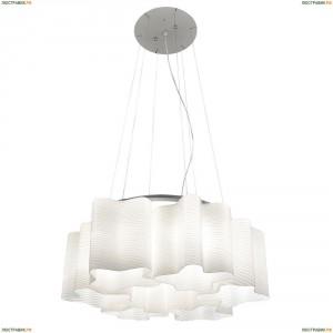 802161 Люстра подвесная Lightstar Simple Light, 6 плафонов, никель, белый