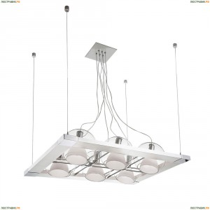 803161 Люстра подвесная Lightstar, 6 плафонов, белый, хром
