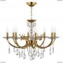 694082 Люстра подвесная хрустальная Osgona Stregaro, 8 ламп, золото, прозрачный