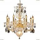 790112 Люстра подвесная хрустальная Osgona Schon, 11 ламп, золото, прозрачный