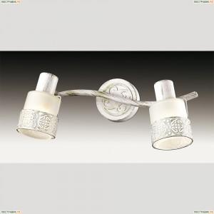 2786/2W Odeon Light 707 белый с позолотой/стекло Подсветка для картин с выкл E14 2*40W 220V MATISO