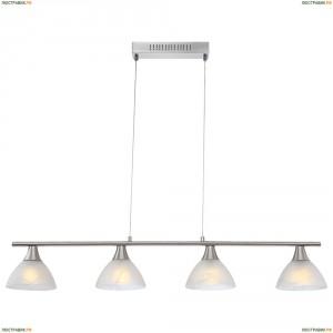68618-4 Люстра подвесная светодиодная Globo Ruben, 4 плафона, никель, белый