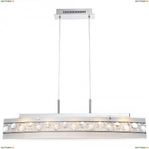 48175-18H Люстра подвесная хрустальная светодиодная Globo Louise, 6 светодиодов, хром, белый