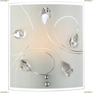 40414-1W Светильник настенный хрустальный Globo Alivia, 1 плафон, хром, белый