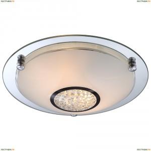 48339-2 Светильник настенно-потолочный хрустальный Globo Eder, 2 лампы, хром, белый