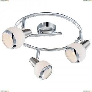 56038-3 Спот светодиодный Globo Karde, 3 плафона, хром с никелем, белый