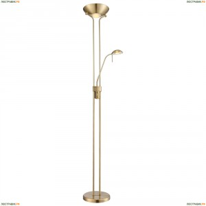 59040 Торшер светодиодный Globo Leonas, 2 плафона, медь, белый