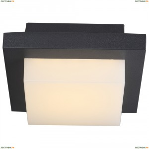 34186 Светильник настенно-потолочный уличный светодиодный Globo Oskari, 1 плафон, черный, белый