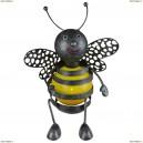 33407 Декоративная уличная фигура на солнечных батареях Globo Пчела, 1 светодиод, черный, желтый