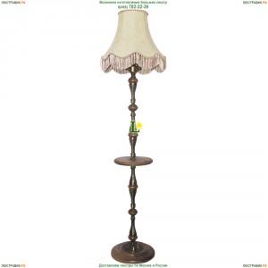 НТБ51-3х60-023 Тоскана/абажур/патина Торшер деревянный со столиком и кожаным абажуром Epicentr (ЭПИцентр)