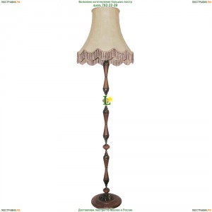 НТБ72-100-012 Тоскана/абажур/патина Торшер деревянный с кожаным абажуром Epicentr (ЭПИцентр)