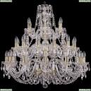 1406/12+12+6/300/3d/G Хрустальная большая люстра Bohemia Ivele Crystal (Богемия)