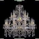 1413/10+5/220-60/2d/G Хрустальная подвесная люстра Bohemia Ivele Crystal (Богемия)