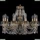 1702/10/250/C/GB Хрустальная подвесная люстра Bohemia Ivele Crystal (Богемия)