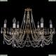 1702/6/250/C/GB Хрустальная подвесная люстра Bohemia Ivele Crystal (Богемия)