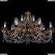 1703/14/320/C/G Хрустальная подвесная люстра Bohemia Ivele Crystal (Богемия)