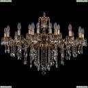 1703/24/225+125/B/GB Хрустальная большая люстра Bohemia Ivele Crystal