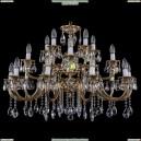 1722/10+5+5/335-64/A/GB Хрустальная подвесная люстра Bohemia Ivele Crystal