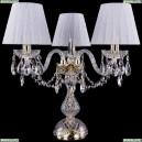 1406L/3/141-39/G/SH13-160 Хрустальная настольная лампа Bohemia Ivele Crystal (Богемия)