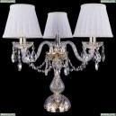 1406L/3/141-39/G/SH13A-160 Хрустальная настольная лампа Bohemia Ivele Crystal (Богемия)