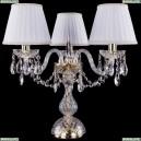 1406L/3/141-39/G/SH2A-160 Хрустальная настольная лампа Bohemia Ivele Crystal (Богемия)