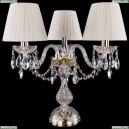 1406L/3/141-39/G/SH3-160 Хрустальная настольная лампа Bohemia Ivele Crystal (Богемия)
