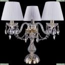 1406L/3/141-39/G/SH32-160 Хрустальная настольная лампа Bohemia Ivele Crystal (Богемия)