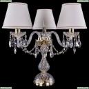 1406L/3/141-39/G/SH40A-160 Хрустальная настольная лампа Bohemia Ivele Crystal (Богемия)