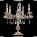 1702L/5/CK125IV-45/A/GW Хрустальная настольная лампа Bohemia Ivele Crystal (Богемия)