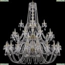 1402/20+10+5/530/3d/G Хрустальная подвесная люстра Bohemia Ivele Crystal (Богемия)