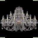 1406/16+8/360/G Хрустальная подвесная люстра Bohemia Ivele Crystal (Богемия)