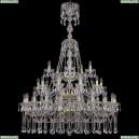 1413/20+10+5/400/XL-158/3d/G Хрустальная подвесная люстра Bohemia Ivele Crystal (Богемия)