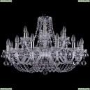 1406/12+6/300/Ni/Balls Хрустальная подвесная люстра Bohemia Ivele Crystal (Богемия)
