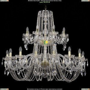 1402/16+8/400-100/2d/G Хрустальная подвесная люстра Bohemia Ivele Crystal (Богемия)