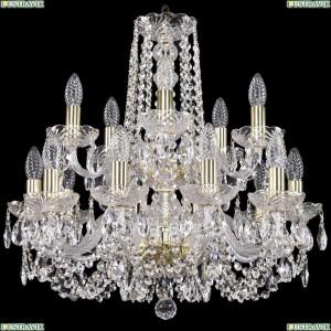 1402/10+5/195/2d/G Хрустальная подвесная люстра Bohemia Ivele Crystal (Богемия)