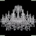 1411/12+6/300/Ni Хрустальная подвесная люстра Bohemia Ivele Crystal (Богемия)