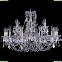 1406/12+6/300/Ni/Leafs Хрустальная подвесная люстра Bohemia Ivele Crystal (Богемия)
