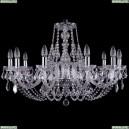 1406/10/300/Ni/Leafs Хрустальная подвесная люстра Bohemia Ivele Crystal (Богемия)