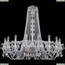 1402/18/400/h-105/Ni Хрустальная подвесная люстра Bohemia Ivele Crystal