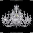 1402/12+6/300/2d/Ni Хрустальная подвесная люстра Bohemia Ivele Crystal