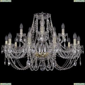 1406/10+5/300/G Хрустальная подвесная люстра Bohemia Ivele Crystal (Богемия)