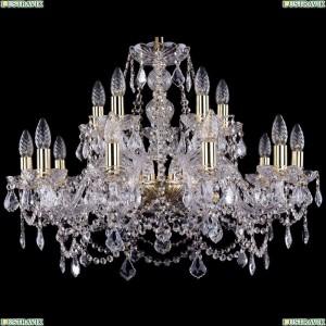 1411/10+5/240/G/Leafs Хрустальная подвесная люстра Bohemia Ivele Crystal (Богемия)
