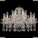 1413/12+6/220/G Хрустальная подвесная люстра Bohemia Ivele Crystal
