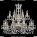 1402/10+5/240-60/2d/G Хрустальная подвесная люстра Bohemia Ivele Crystal (Богемия)