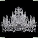 1402/12+6/240/Ni Хрустальная подвесная люстра Bohemia Ivele Crystal (Богемия)
